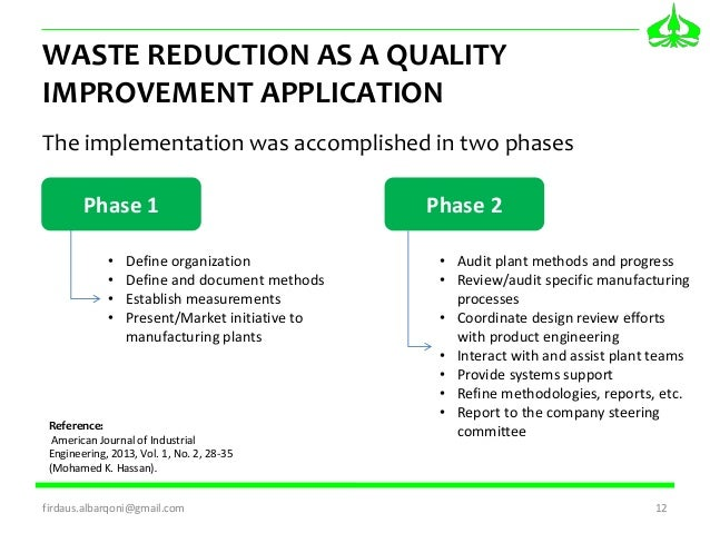 APPLYING LEAN SIX SIGMA FOR WASTE REDUCTION IN A MANUFACTURING ENVIRO…