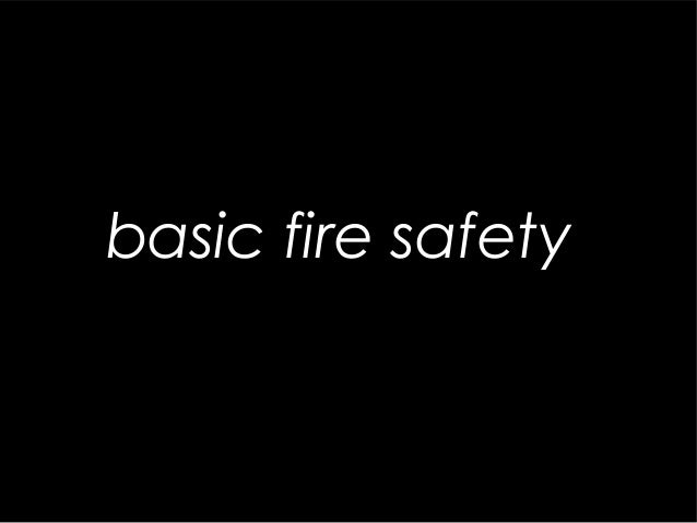 1 basic fire safety
