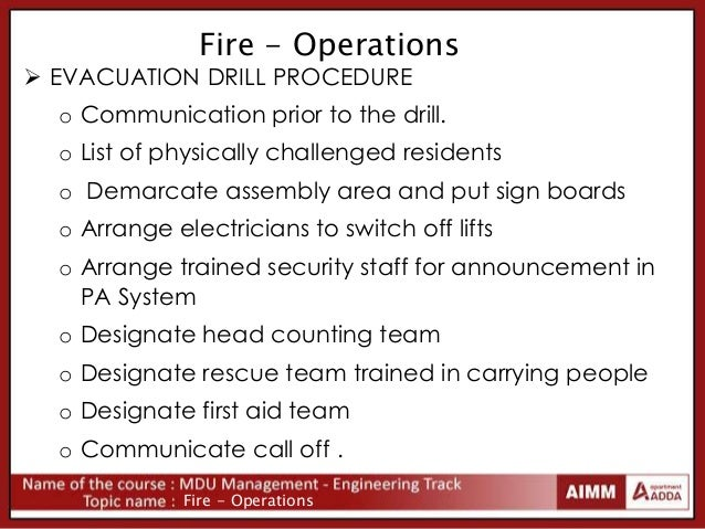 fire evacuation procedure template free - fire safety in apartment complex fire operations and