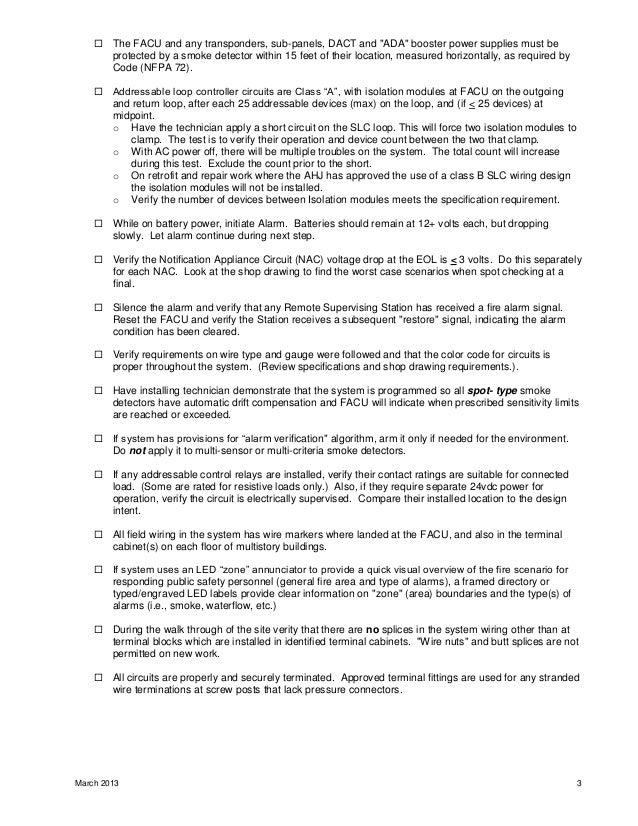 fire alarm checklist 3