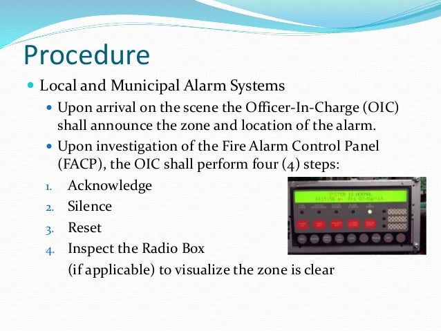 Fire Alarm Control Panel Operations