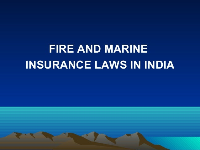 laws on marine insurance A maritime insurance attorney discusses the law of general average and shares several common examples of maritime accidents that use general average law.