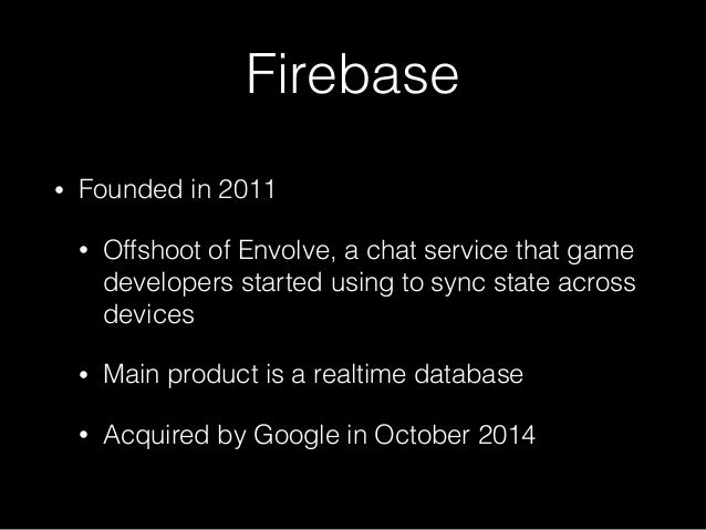Firebase: Totally Not Parse All Over Again (Unless It Is) (CocoaConf San Jose, Nov. 2016) Slide 3