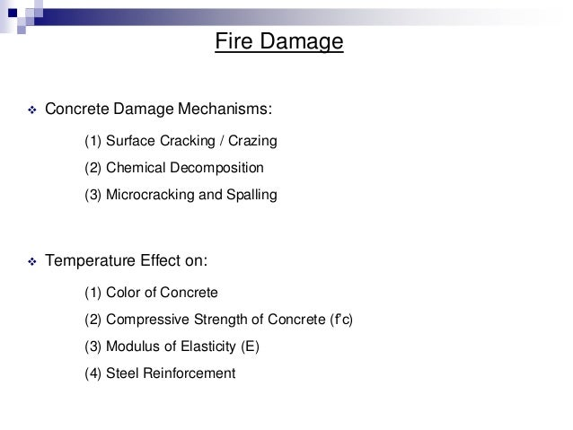 effect of fire on concrete and concrete structures pdf