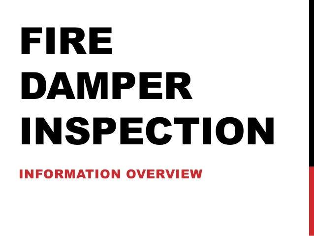 Fire Damper Inspection