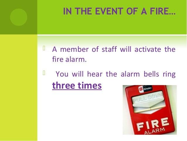 Fire drill procedure Slide 2