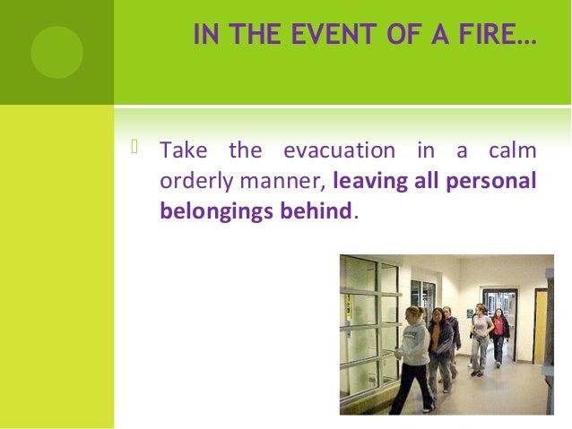 Fire drill procedure Slide 3