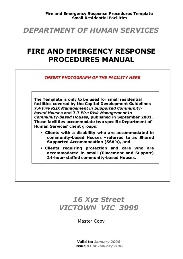 incident response procedure template - fireemergegencyman 2