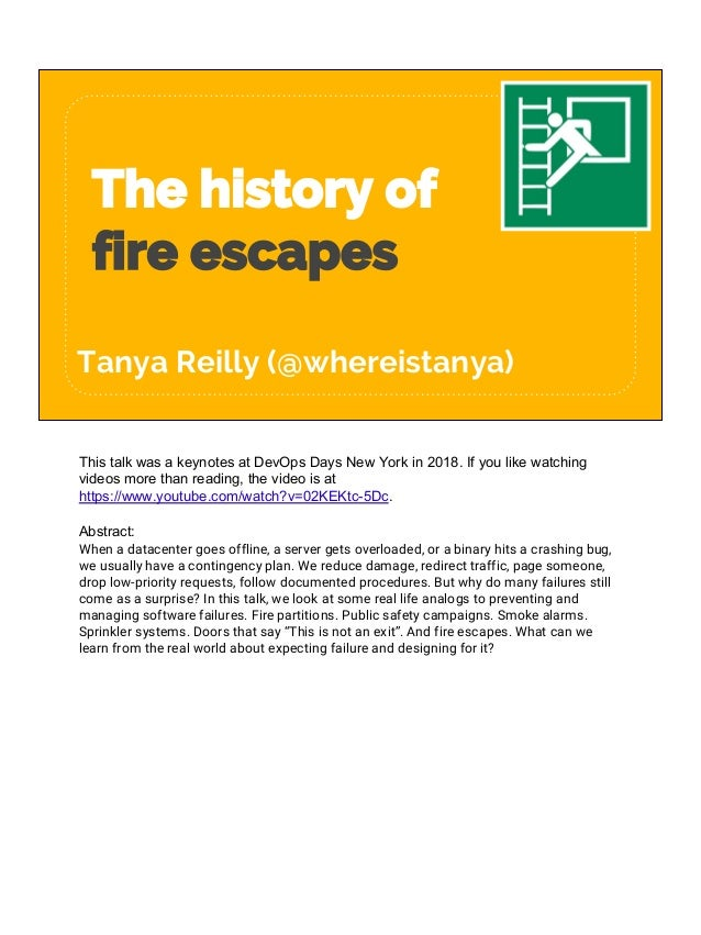 The History Of Fire Escapes V1
