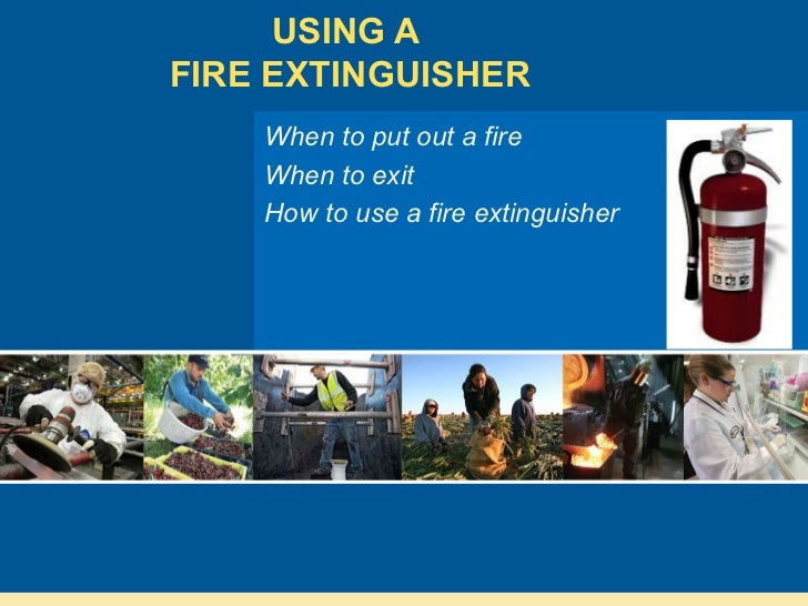 how to put out a fire with a fire extinguisher