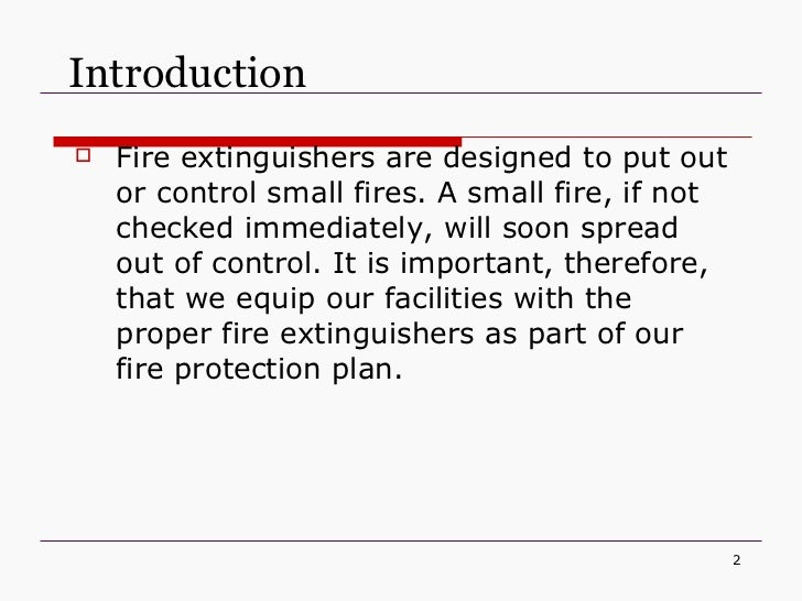 introduction of fire extinguisher