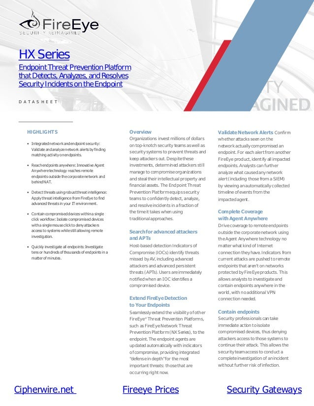FireEye HX Series Endpoint Security