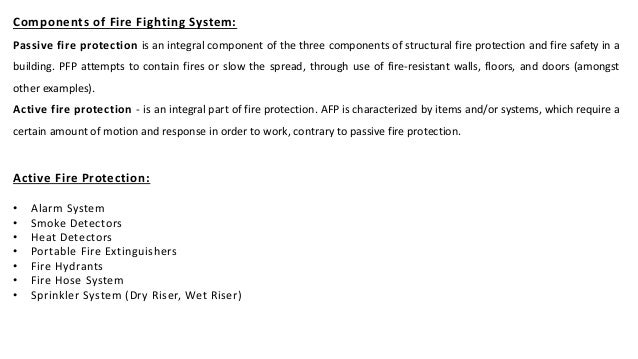 Fire Fighting Systems for Buildings