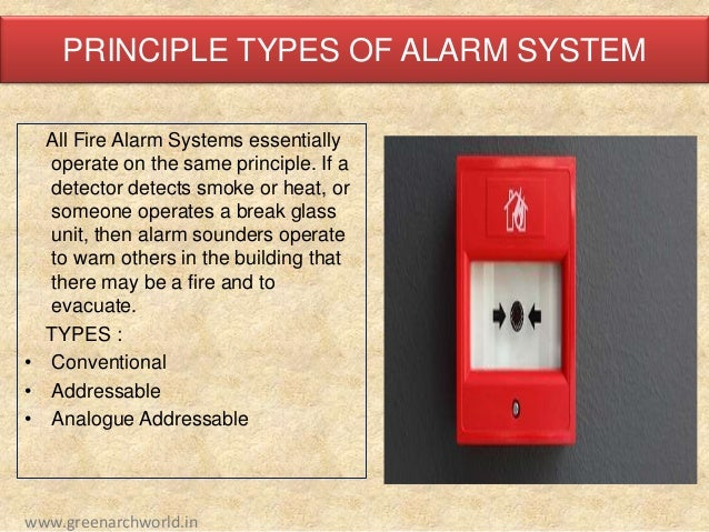 basics of fire fighting rh slideshare net Hand Pull Fire Alarm System Automatic Fire Alarm System