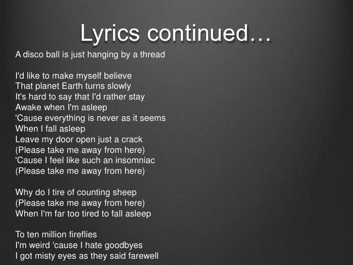 Owl City - Fireflies (Lyrics) - YouTube
