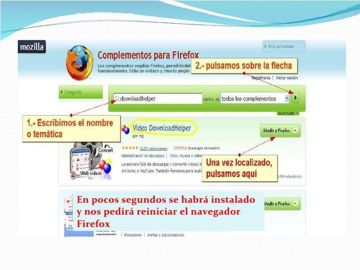 En pocos segundos se habrá instalado y nos pedirá reiniciar el navegador Firefox