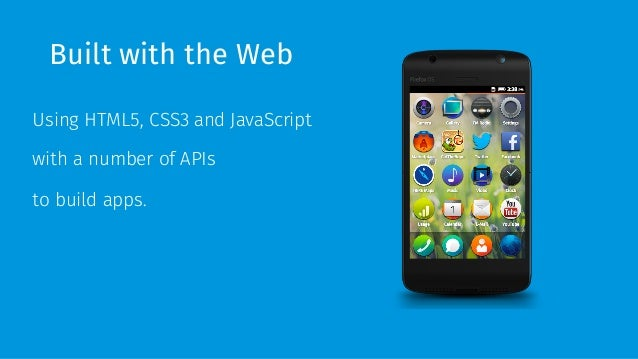 Firefox OS, HTML5 to the next level