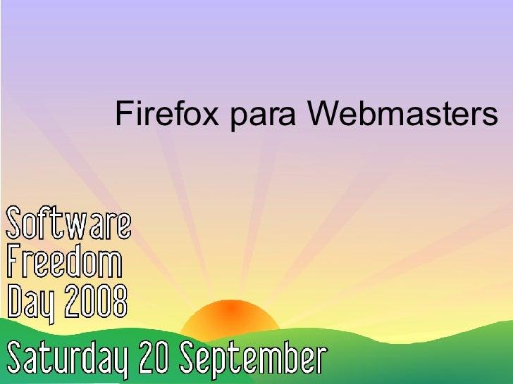 Firefox para Webmasters