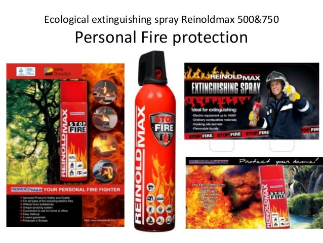 Personal Fire Protection - Ecological extinguishing spray