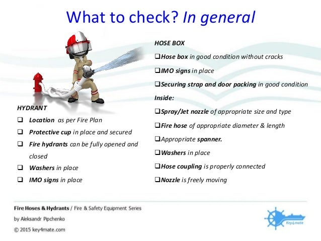 Fire Hoses and Hydrants Inspection