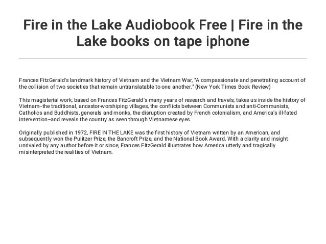 Fire in the Lake Audiobook Free | Fire in the Lake books on tape ipho…