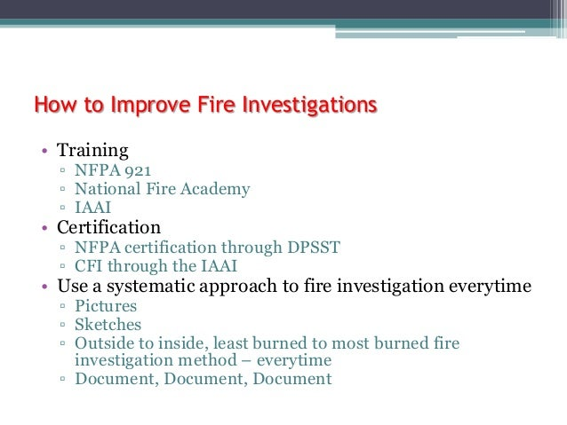 Fire investigation mythswith pictures