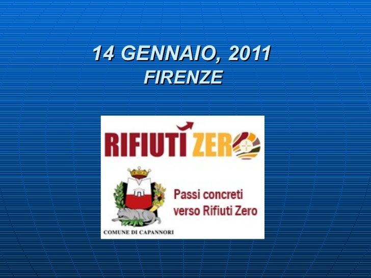 14 GENNAIO, 2011   FIRENZE