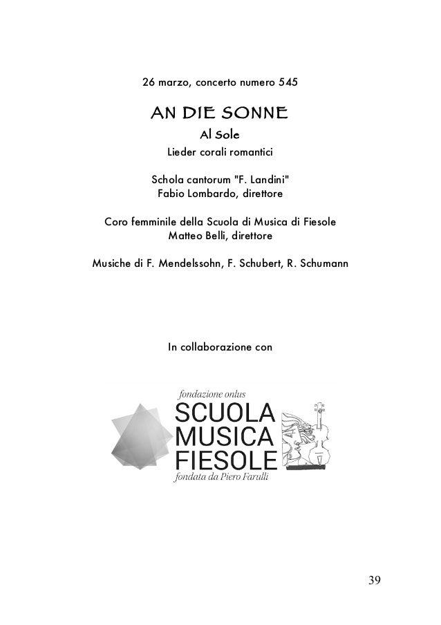 A gi mus  Firenze stagione concertistica 2017 I parte