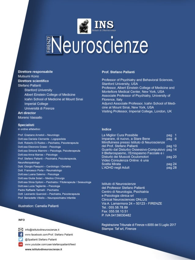 """1 I risultati delle ricerche recenti consen- tono oggi di considerare i Disturbi Psi- chiatrici come """"normali"""" malattie me..."""