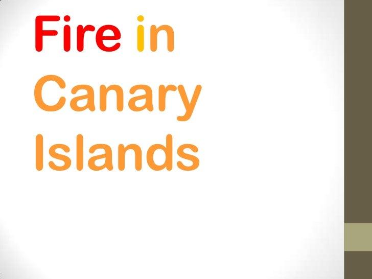 Fire inCanaryIslands