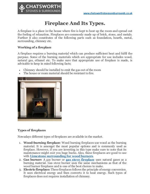 Fireplace And Its Types