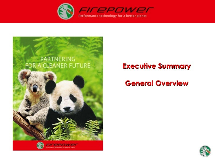 Executive Summary General Overview