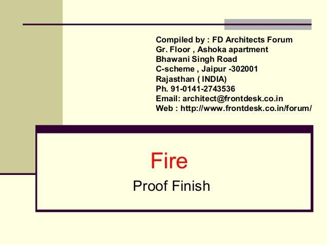 Compiled by : FD Architects Forum  Gr. Floor , Ashoka apartment  Bhawani Singh Road  C-scheme , Jaipur -302001  Rajasthan ...