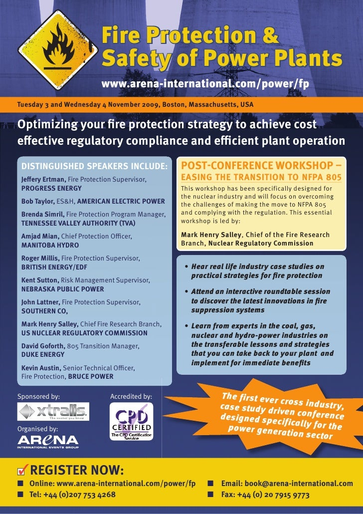 fire Protection &                             Safety of Power Plants                             www.arena-international.c...