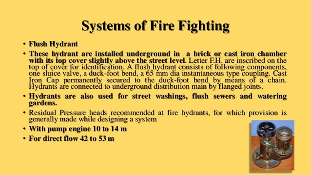 Fire Protection Systems Unit-I