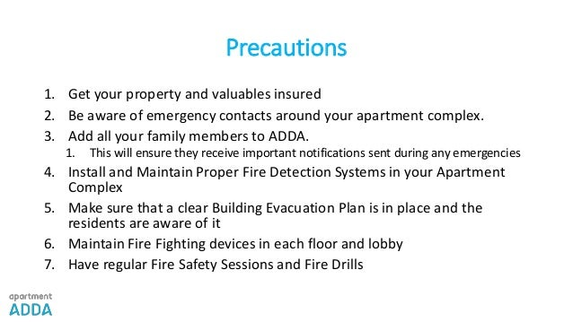 Apartmentadda Fire Safety At Your Apartment Complex