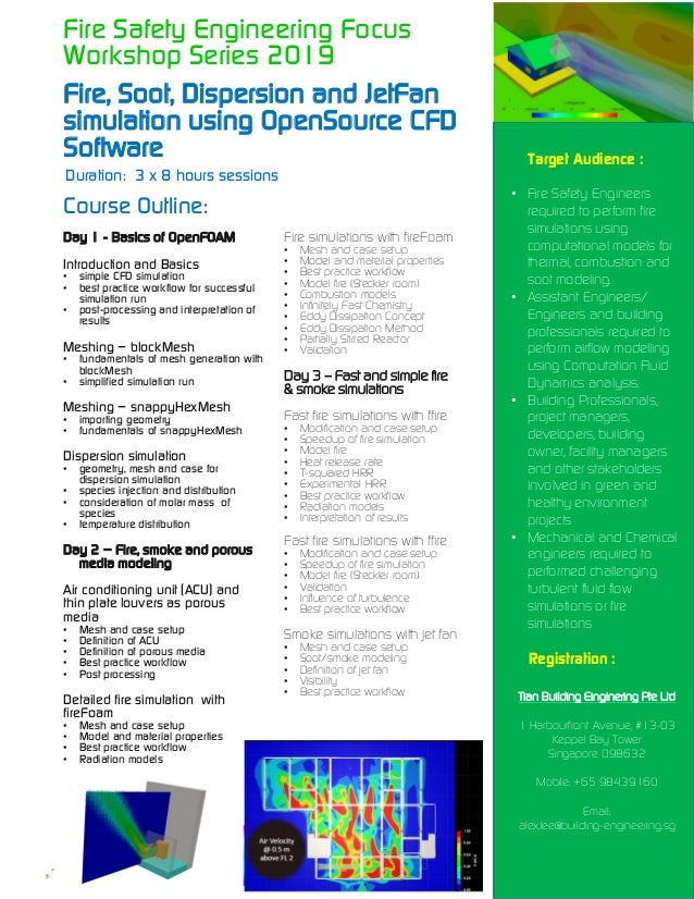 Fire safety engineering focus workshop series 2019 (open source cfd t…