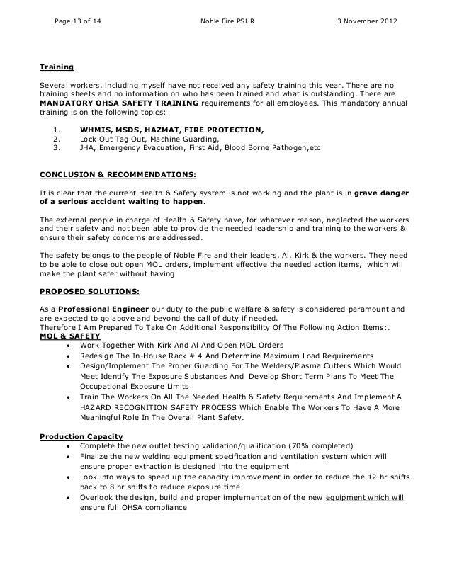 fire safety report nov 2 2012