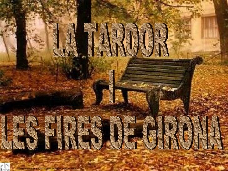 LA TARDOR  I LES FIRES DE GIRONA Carme Soler i Sala. AULA D'ACOLLIDA Octubre 2008