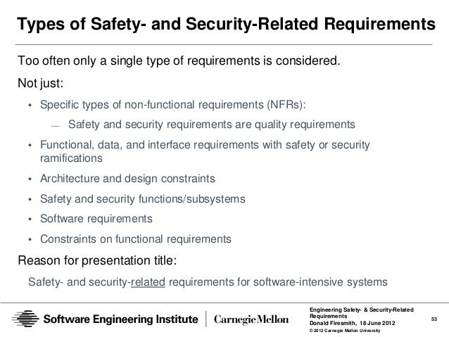 Engineering Safety And Security Related Requirements