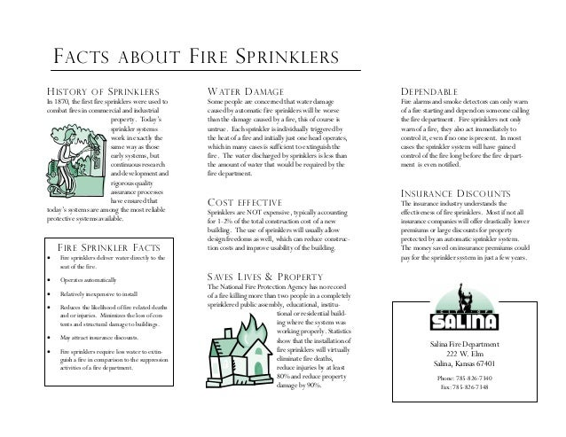 city of salina brochure fire sprinkler information 2 dependable fire