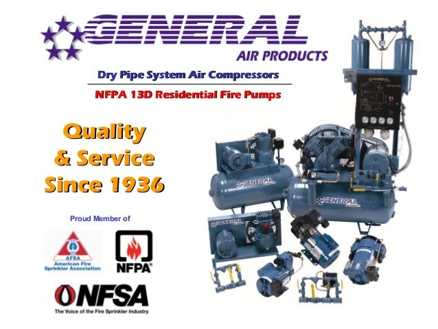 QualityQuality & Service& Service Since 1936Since 1936 Proud Member of Dry Pipe System Air CompressorsDry Pipe System Air ...