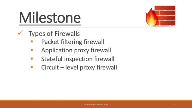 Types Of Firewall