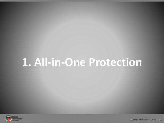 21© Sophos Ltd. All rights reserved. 1. All-in-One Protection