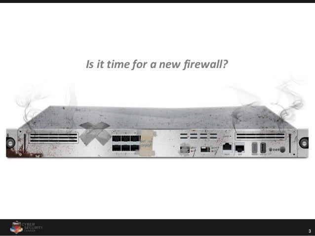 3 Is it time for a new firewall?