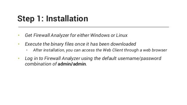 Manageengine firewall analyzer.