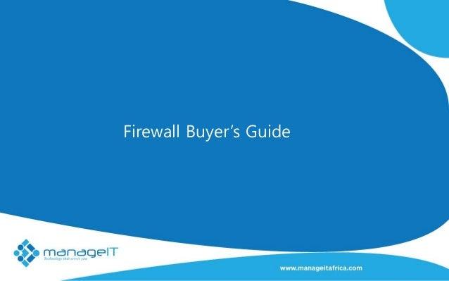 Firewall Buyer's Guide