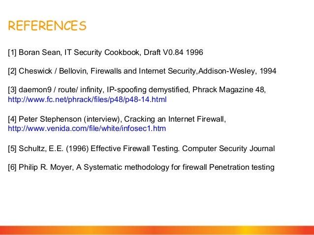 Firewall penetration tests