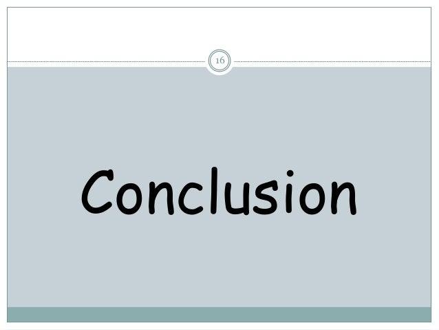 16 Conclusion
