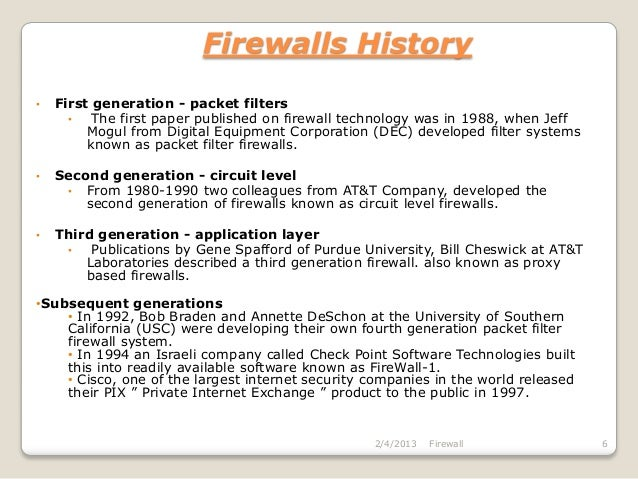 research paper on firewall security